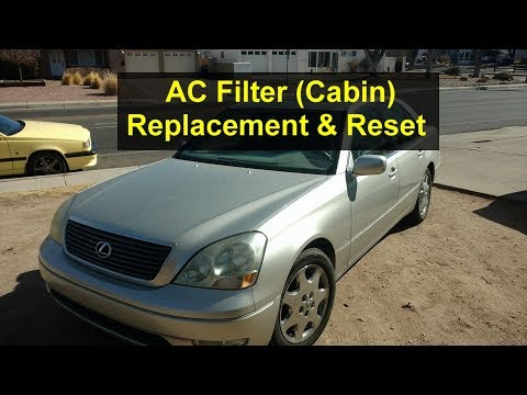 How to replace the AC filter (cabin) and reset the warning message, Lexus 430, 300, etc. - VOTD