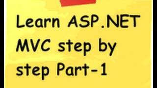 getlinkyoutube.com-ASP.NET MVC Model view controller ( MVC) Step by Step  Part 1