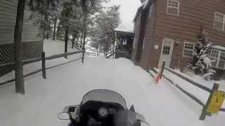Snowmobiling in Eagle Bay & Inlet, NY January 2015