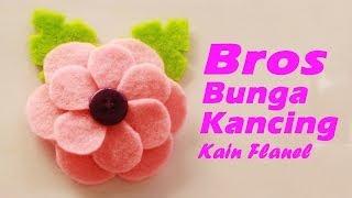 getlinkyoutube.com-Cara Membuat Bros Bunga Kancing Dari Kain Flanel