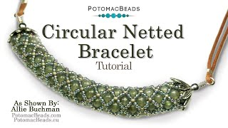 getlinkyoutube.com-Circular Netted (Bracelet or Necklace)