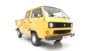 A Totally Original VW T25 Transporter Double-Cab Pick-Up with just 25,347 Miles - SOLD!