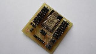getlinkyoutube.com-Part 1 :  Making of ESP-12E IO Board and AT command test