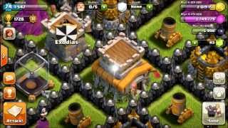 getlinkyoutube.com-[CoC:90th TH8 Defense]Last 2in1 Def for my 2nd Hybrid Base