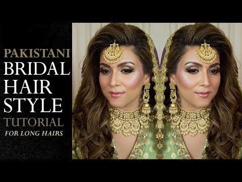 Download Thumbnail For Bridal Hairstyle Tutorial Pakistani Bridal