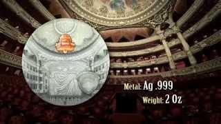 getlinkyoutube.com-Paris Palais Garnier 2014 Famous Opera Crystal Series Palau Silver Coin