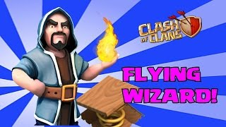 getlinkyoutube.com-Clash Of Clans Flying Wizards (Epic Gameplay)