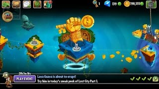 Plants vs Zombies 2 - New update 3.6.1: Lost City Part 1