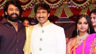 getlinkyoutube.com-Gopichand Reshma Wedding Reception Video - 02
