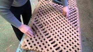 getlinkyoutube.com-Изготовление деревянной решетки , версия 2