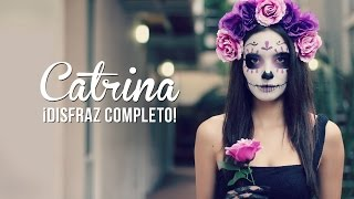 getlinkyoutube.com-Catrina! Maquillaje y disfraz, fácil!