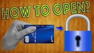 getlinkyoutube.com-Как открыть замок пластиковой картой? Копия ключа своими руками! / How to open a lock?