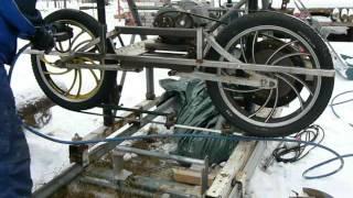 getlinkyoutube.com-Homemade bandsaw mill. Part 2 (blade installation)