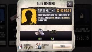 getlinkyoutube.com-Walking Dead : Road to Survival - TRAINING GROUND ELITES 12-15-2015