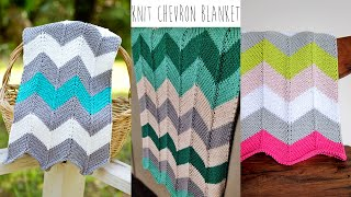 getlinkyoutube.com-KNITTING TUTORIAL-CHEVRON BLANKET