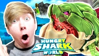 getlinkyoutube.com-Hungry Shark World - BIG MOMMA (DUNKLEOSTEUS) (iPhone Gameplay Video)