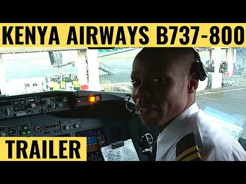Kenya Airways B737-800 - Cockpit Video - Flight Deck Action
