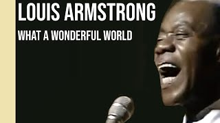 Louis Armstrong - What A Wonderful World (1968) | sub Español + lyrics