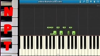 getlinkyoutube.com-How to play Crooked Smile on piano - J Cole ft. TLC - Synthesia Tutorial
