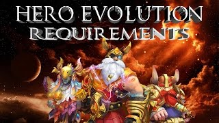 getlinkyoutube.com-Castle Clash: Hero Evolution Requirements | What It Takes