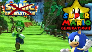 getlinkyoutube.com-SUPER MARIO GENERATIONS - LUIGI GOES FAST! [SONIC GENERATIONS LUIGI MOD]