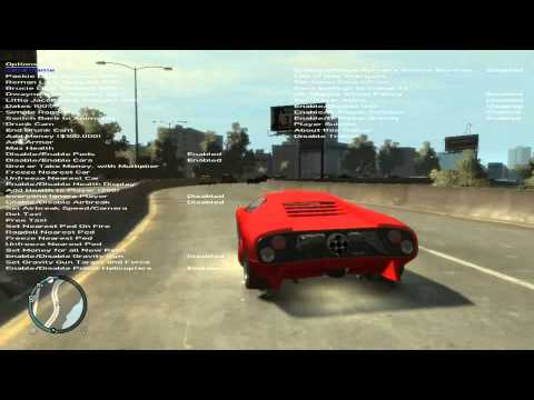 GTA IV Trainer install & Gameplay