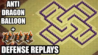 getlinkyoutube.com-Clash of Clans - Town hall 7 (Th7) War Base + 3 Air Defense REPLAY - ANTi Dragon Strategy