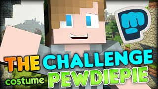 getlinkyoutube.com-THE ULTIMATE BROFIST -  Disguised as PewDiePie - Minecraft Hunger Games - The Costume Challenge