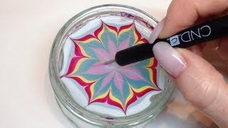 getlinkyoutube.com-How To Produce Water Marbling Nail Art With Nail Polish (CND VINYLUX)
