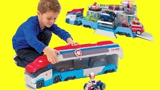 getlinkyoutube.com-🚓 PAW PATROL CAMION 🚓 Italiano personaggi da cartone Ryder Marshall Rubble Chase, giochi MAGIC TOYS
