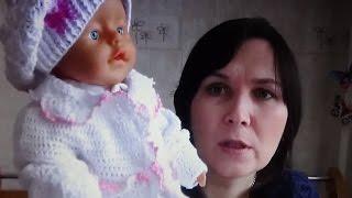 getlinkyoutube.com-Кофточка для новорожденного крючком ( 2 часть)