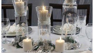 Pahuljice u vazi- uradi sam, ukras koji će krasiti centralni deo stola u novogodišnjoj noći