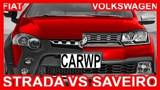 getlinkyoutube.com-*COMPARATIVO*Fiat Strada Adventure 2016 1.8 16v vs VW Saveiro Cross 2017 1.6 16v #Strada #Saveiro