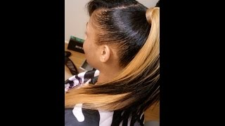 getlinkyoutube.com-Invisible Ponytail Tutorial