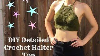 getlinkyoutube.com-Detailed Crochet Halter Top