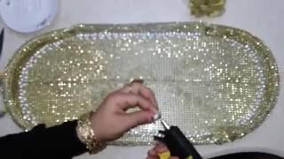 getlinkyoutube.com-بالفيديو طريقة تزيين صينية تقديم منزليه (4)_أعمال ومشغولات يدويه_فنون_أفكار بنات