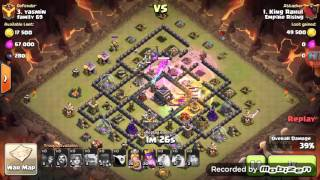 getlinkyoutube.com-TH9 vs TH9 Gowiwi 3 star attack ***- Clash of Clans