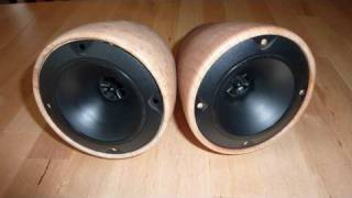 getlinkyoutube.com-Woodturning Project Make Custom Stereo Speaker Box On The Lathe