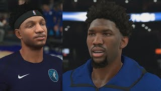 NBA 2K18 My Career - Lobs vs The Process! PS4 Pro 4K Gameplay