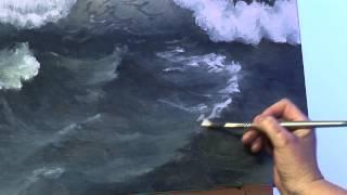 getlinkyoutube.com-Seascape in Acrylic with Denise Allen
