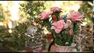 """getlinkyoutube.com-""""Ручная работа"""" роза из бисера (25.09.2013)"""