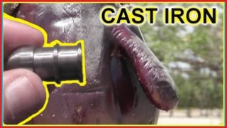 getlinkyoutube.com-CAST IRON Shotgun Slugs -  Custom Machined Bullet Tests