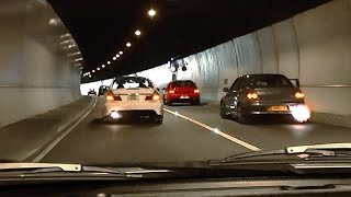 getlinkyoutube.com-Mitsubishi Evo tunnel run - EPIC Turbo sounds and Accelerations