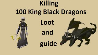 Guide and loot from 100 King Black Dragon -Solo Ranged-