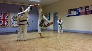 getlinkyoutube.com-Soo Bahk Do / Tang Soo Do Kick Workout / Drills