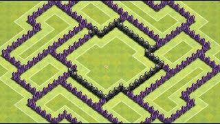 getlinkyoutube.com-Clash Of Clans-TH8 Anti Hog Trophy Base/Defense Base