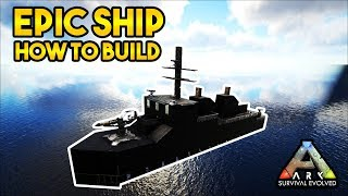 Warship Raft Build Tutorial! My Dodo Devastator! ARK Survival Evolved