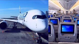 getlinkyoutube.com-Empty Finnair Airbus A350-900 Helsinki - London Heathrow (OH-LWB)