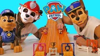 Paw Patrol Pup Race + Hot Wheels Super Six Lane Raceway ! || Blind Bag Show Ep81 ||Konas2002