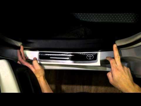 Наклейка на пороги для Toyota Vitz, Yaris (Тойота Витц, Ярис)